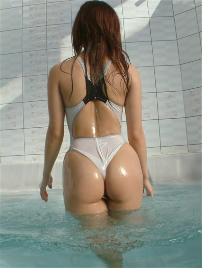 水着が食い込み股間やお尻がえちえちになる競泳水着が刺激的wwww0029shikogin