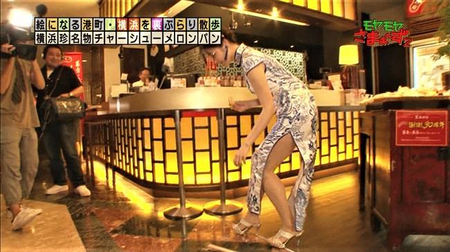 福田典子~モヤモヤさまぁ~ず2で太もも付け根まで見える超エロいチャイナドレス姿を披露!0007shikogin