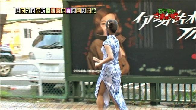 福田典子~モヤモヤさまぁ~ず2で太もも付け根まで見える超エロいチャイナドレス姿を披露!0012shikogin