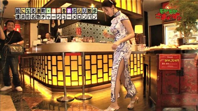 福田典子~モヤモヤさまぁ~ず2で太もも付け根まで見える超エロいチャイナドレス姿を披露!0006shikogin
