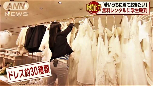 紀真耶~番組内で胸元がエロいウェディングドレス姿!白パンでのパン線ヒップも興奮!0005shikogin