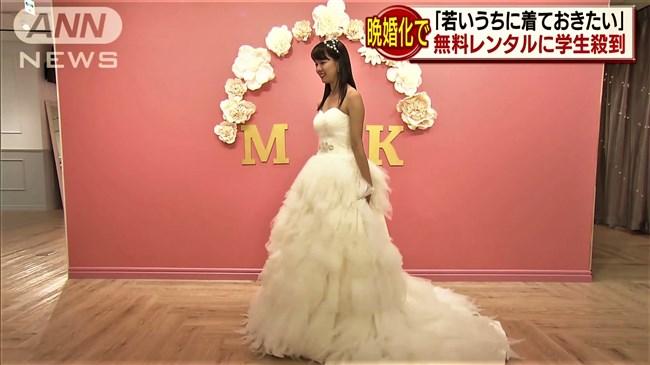 紀真耶~番組内で胸元がエロいウェディングドレス姿!白パンでのパン線ヒップも興奮!0007shikogin