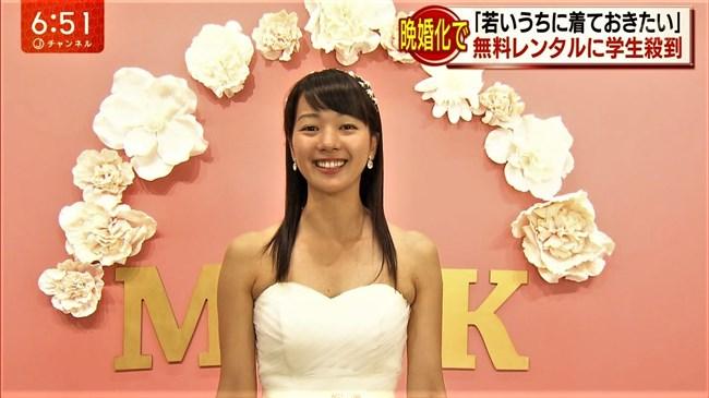 紀真耶~番組内で胸元がエロいウェディングドレス姿!白パンでのパン線ヒップも興奮!0009shikogin