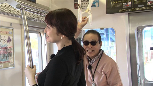 市川紗椰~タモリ倶楽部の鉄道企画でパンパンに張ったオッパイをアピールし超興奮!0007shikogin
