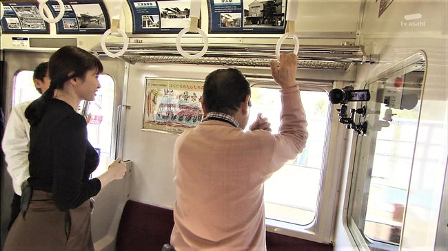 市川紗椰~タモリ倶楽部の鉄道企画でパンパンに張ったオッパイをアピールし超興奮!0008shikogin