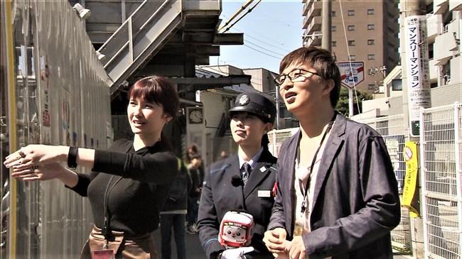 市川紗椰~タモリ倶楽部の鉄道企画でパンパンに張ったオッパイをアピールし超興奮!0010shikogin