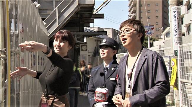 市川紗椰~タモリ倶楽部の鉄道企画でパンパンに張ったオッパイをアピールし超興奮!0011shikogin