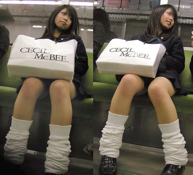 電車で足組んでパンチラ寸前なJKが挑発的でたまらんwwwwww0009shikogin