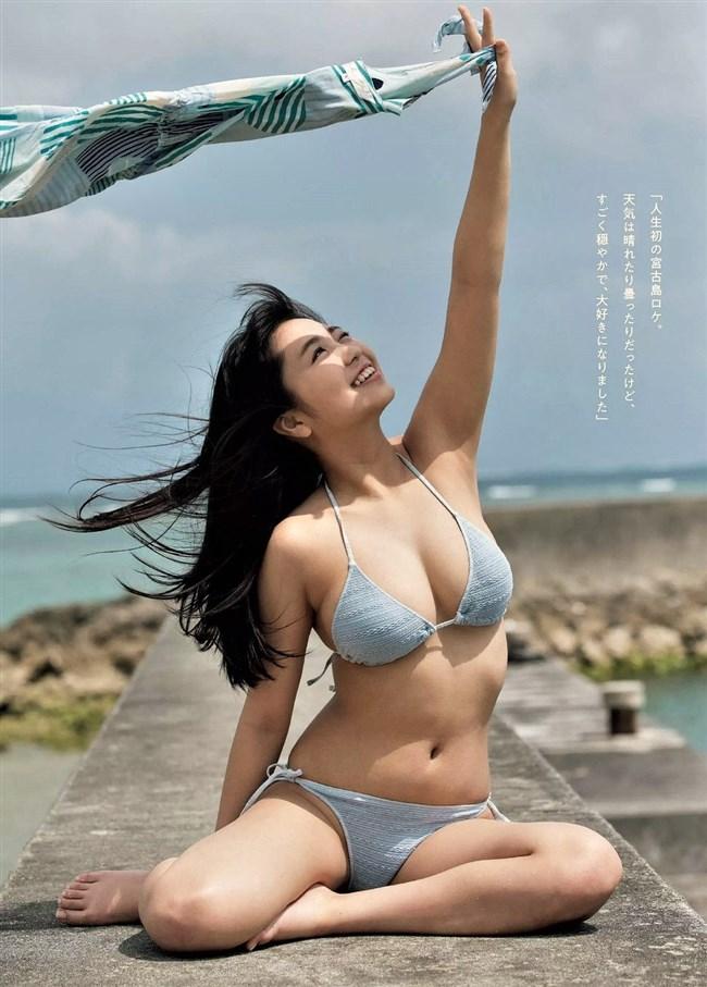 大原優乃~週プレの最新水着グラビアはやっぱり期待を裏切らないオッパイの露出!0006shikogin