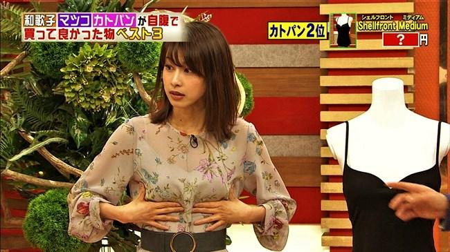 加藤綾子~ホンマでっか!?TV でシースルー衣装で登場しブラが透けて見えたぞ!0002shikogin