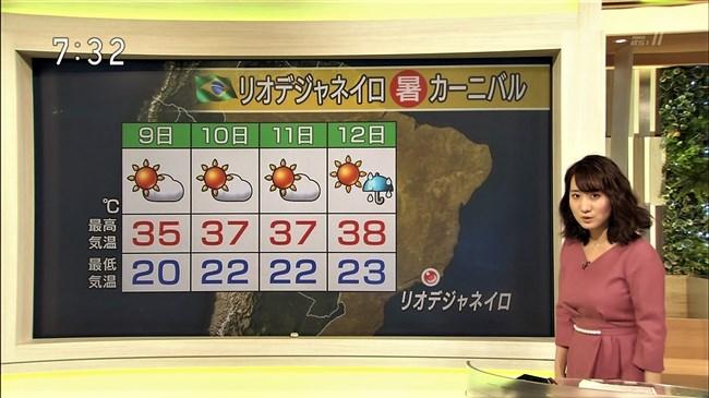 吉井明子~NHKの爆乳気象予報士が凄い!大き過ぎて卑猥な天気予報になっとるばい!0003shikogin