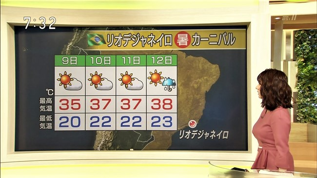 吉井明子~NHKの爆乳気象予報士が凄い!大き過ぎて卑猥な天気予報になっとるばい!0004shikogin