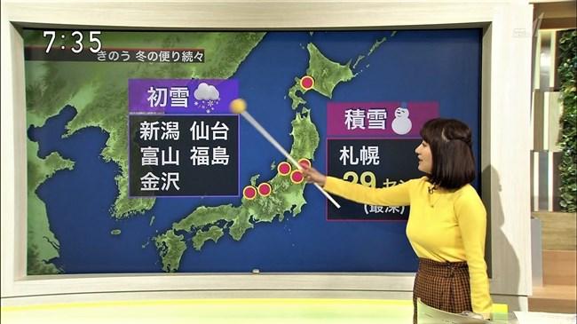 吉井明子~NHKの爆乳気象予報士が凄い!大き過ぎて卑猥な天気予報になっとるばい!0006shikogin