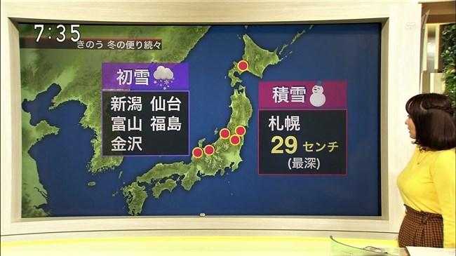 吉井明子~NHKの爆乳気象予報士が凄い!大き過ぎて卑猥な天気予報になっとるばい!0007shikogin