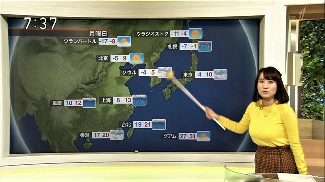 吉井明子~NHKの爆乳気象予報士が凄い!大き過ぎて卑猥な天気予報になっとるばい!0008shikogin