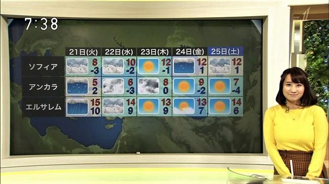 吉井明子~NHKの爆乳気象予報士が凄い!大き過ぎて卑猥な天気予報になっとるばい!0010shikogin