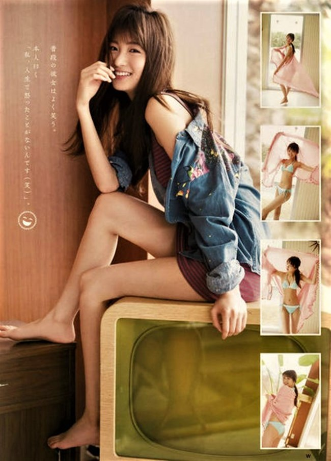 岡崎紗絵~現役人気モデルの週刊ヤンマガの水着グラビアがエロ過ぎてヤバい!0007shikogin