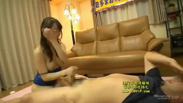 ムチムチで美乳で巨乳のお姉さん、倉多まおの手コキフェラセックス無料動画。【パイズリ動画】