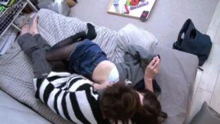 ベッドにて、美脚でパンスト姿の素人美女の、イチャイチャフェラのぞき無料エロ動画。【隠し撮り動画】