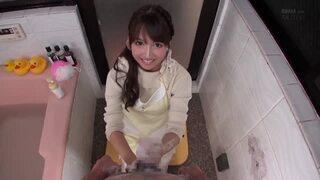 【エロ動画】巨乳の美少女アイドル、三上悠亜の手コキ主観ハメ撮りプレイがエロい。