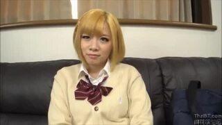 【エロ動画】ビッチ卑猥でエロい巨乳の女子校生JKの、中出し着エロフェラがエロい。いいおっぱいですね!