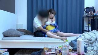 【素人 腰振り】スレンダーでエロい浴衣姿の素人美少女の、フェラ隠し撮り騎乗位プレイエロ動画。【エロ動画】