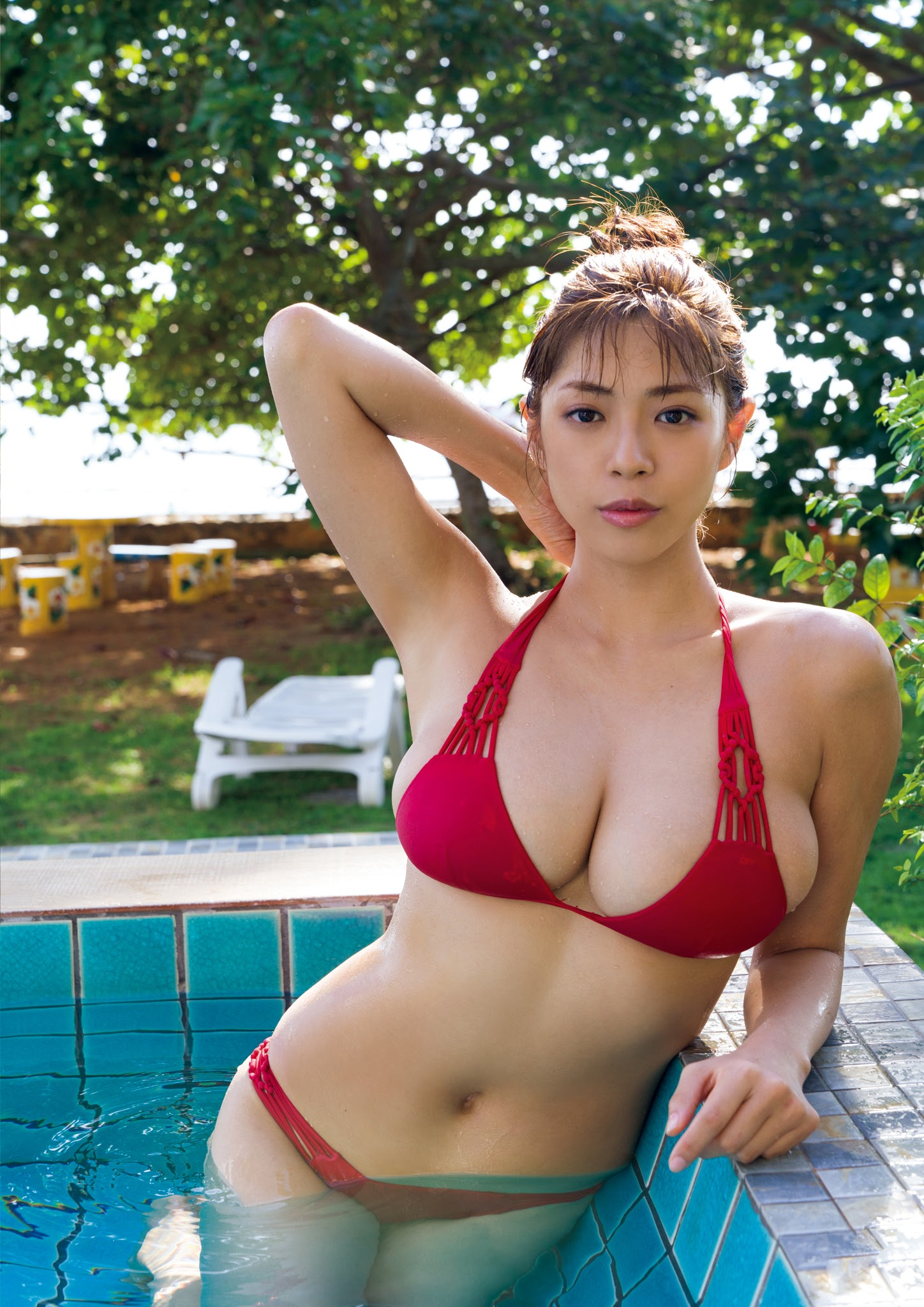 Super body of H cup Minami Wachi 2020 that exposes body and mind in tropical Thailand082