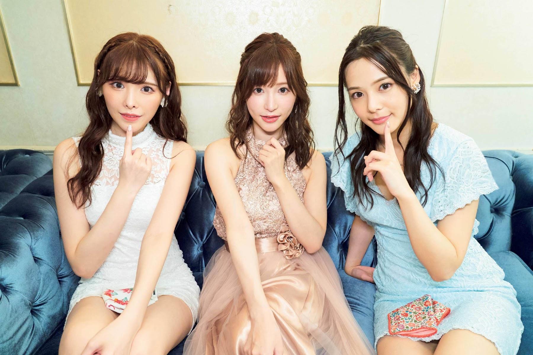 Japans three most beautiful naked women are all lined up Anso Cabaret Hair Nude Arina Hashimoto Arina Tenshi Moe Nene Yoshitaka010
