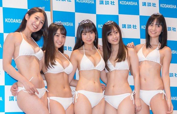 Miss Magazine 2018 Award Winning Goddesses in White Bikinis050