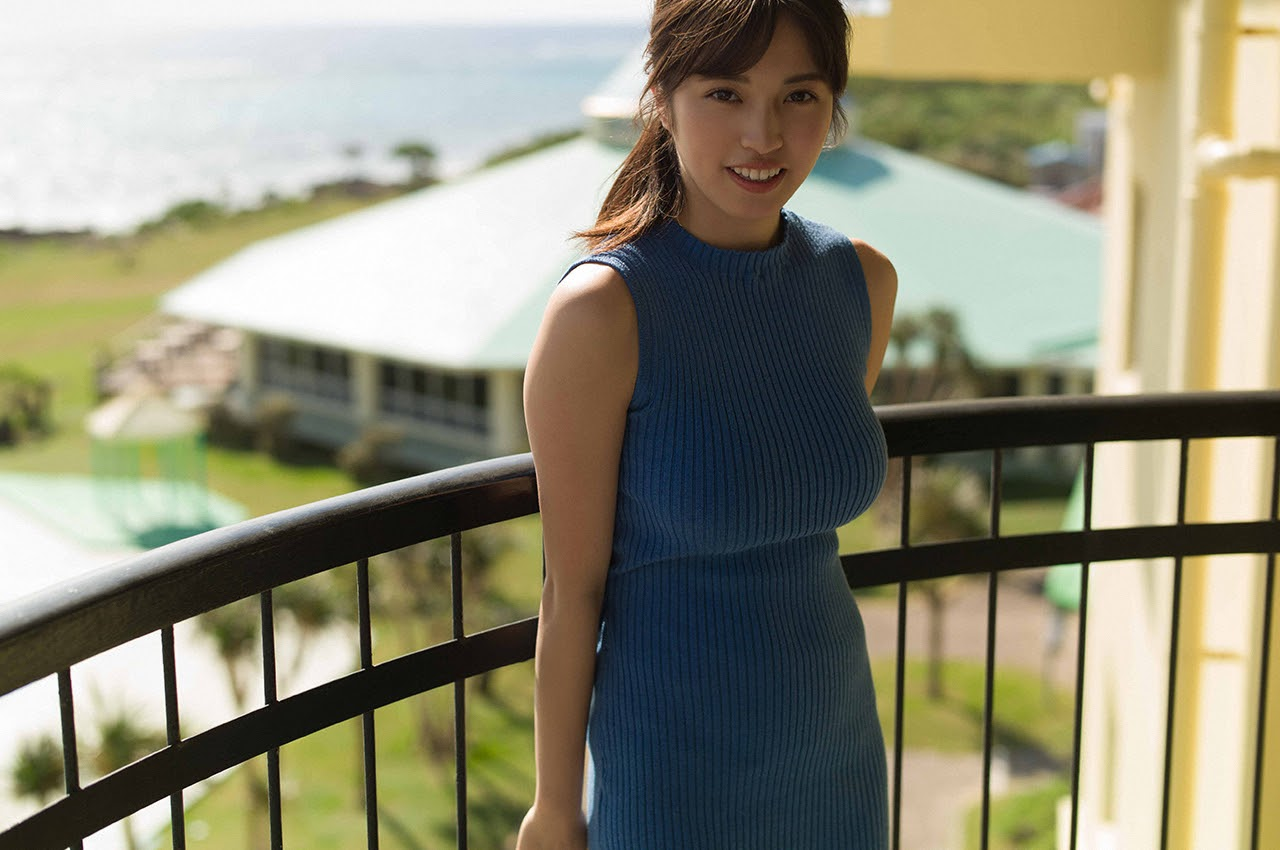 Gravure world treasure BODY Dynamic Miyubai pops up in winter in Okinawa049