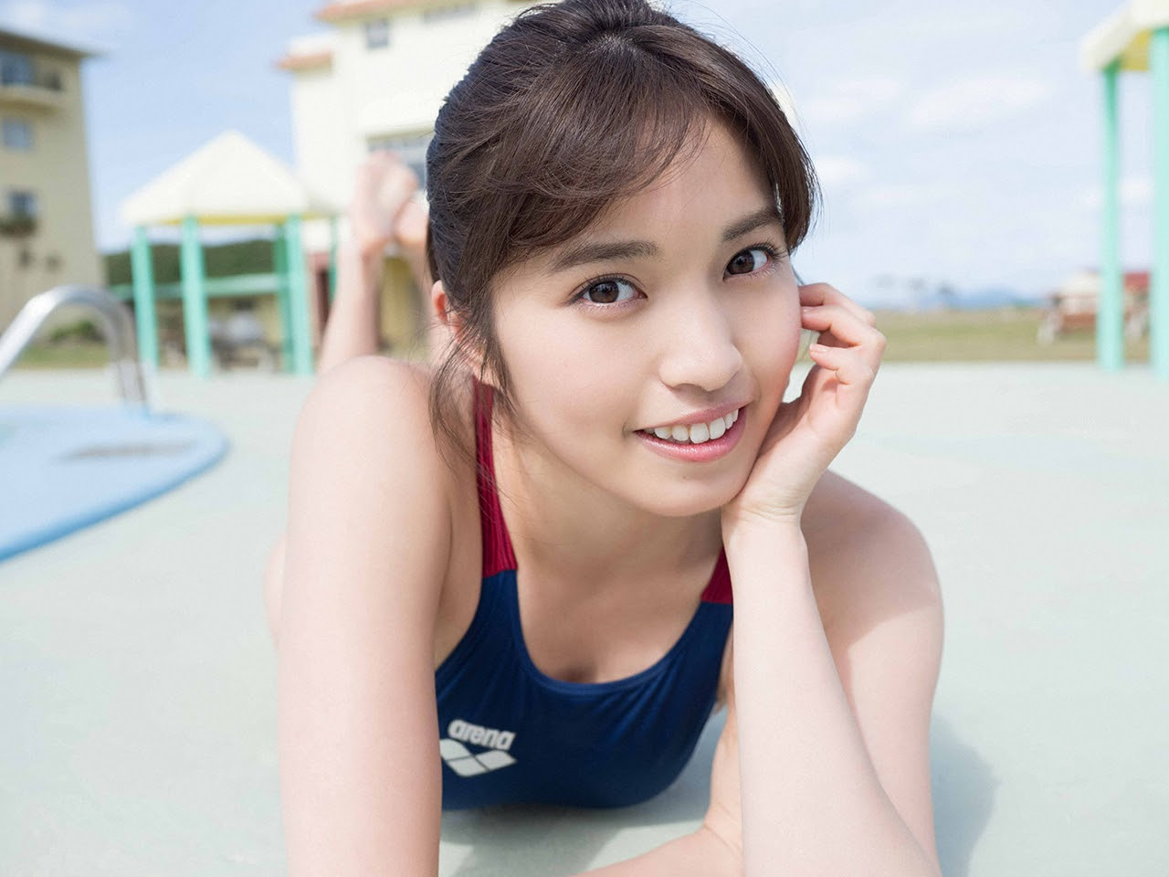 Gravure world treasure BODY Dynamic Miyubai pops up in winter in Okinawa090