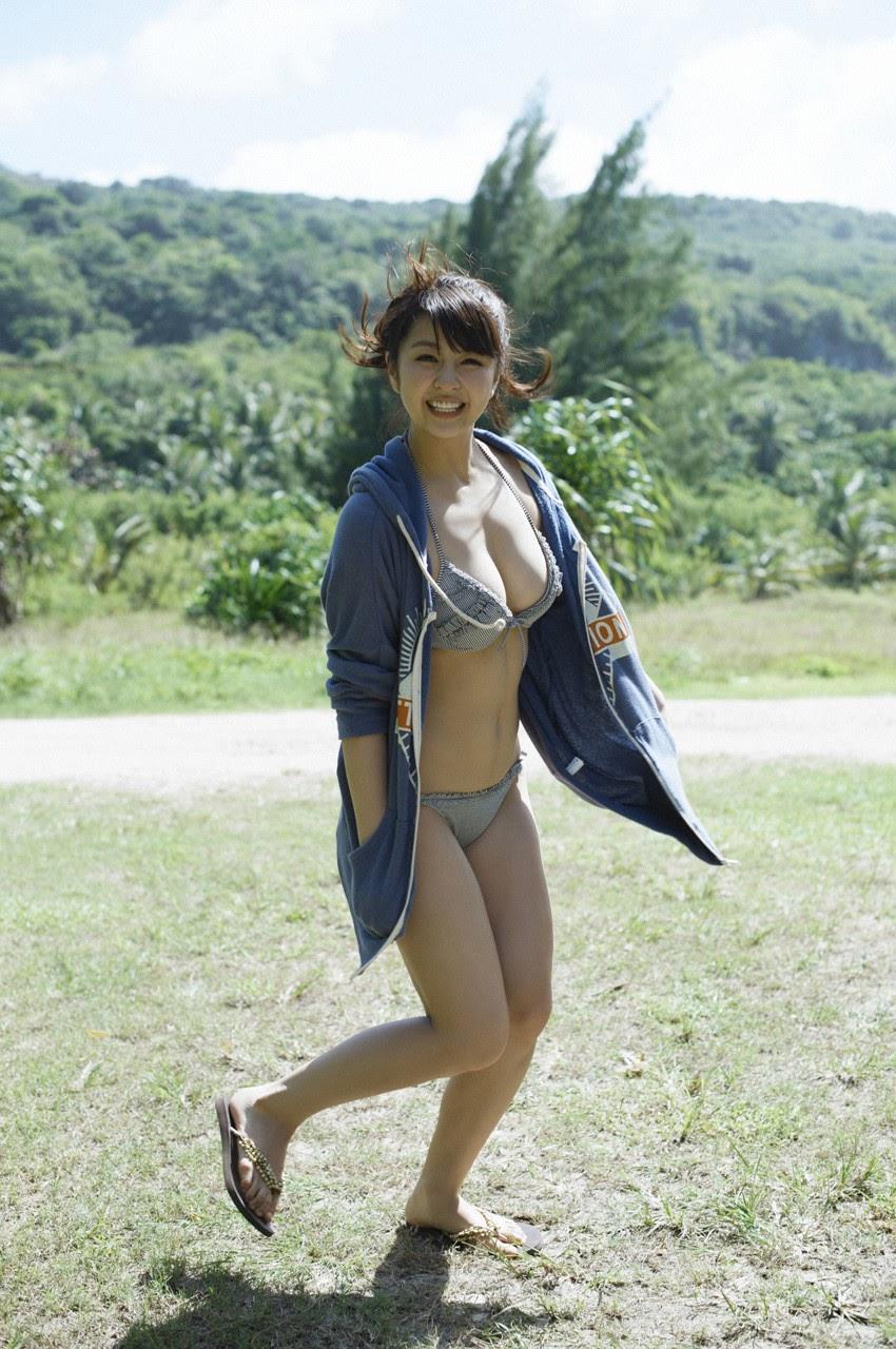 Bikini on a white sandy beach017