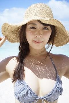 Bikini on a white sandy beach035