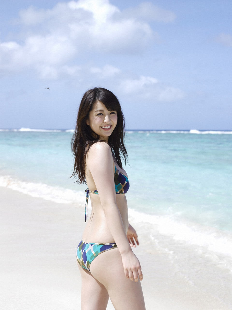 Bikini on a white sandy beach052