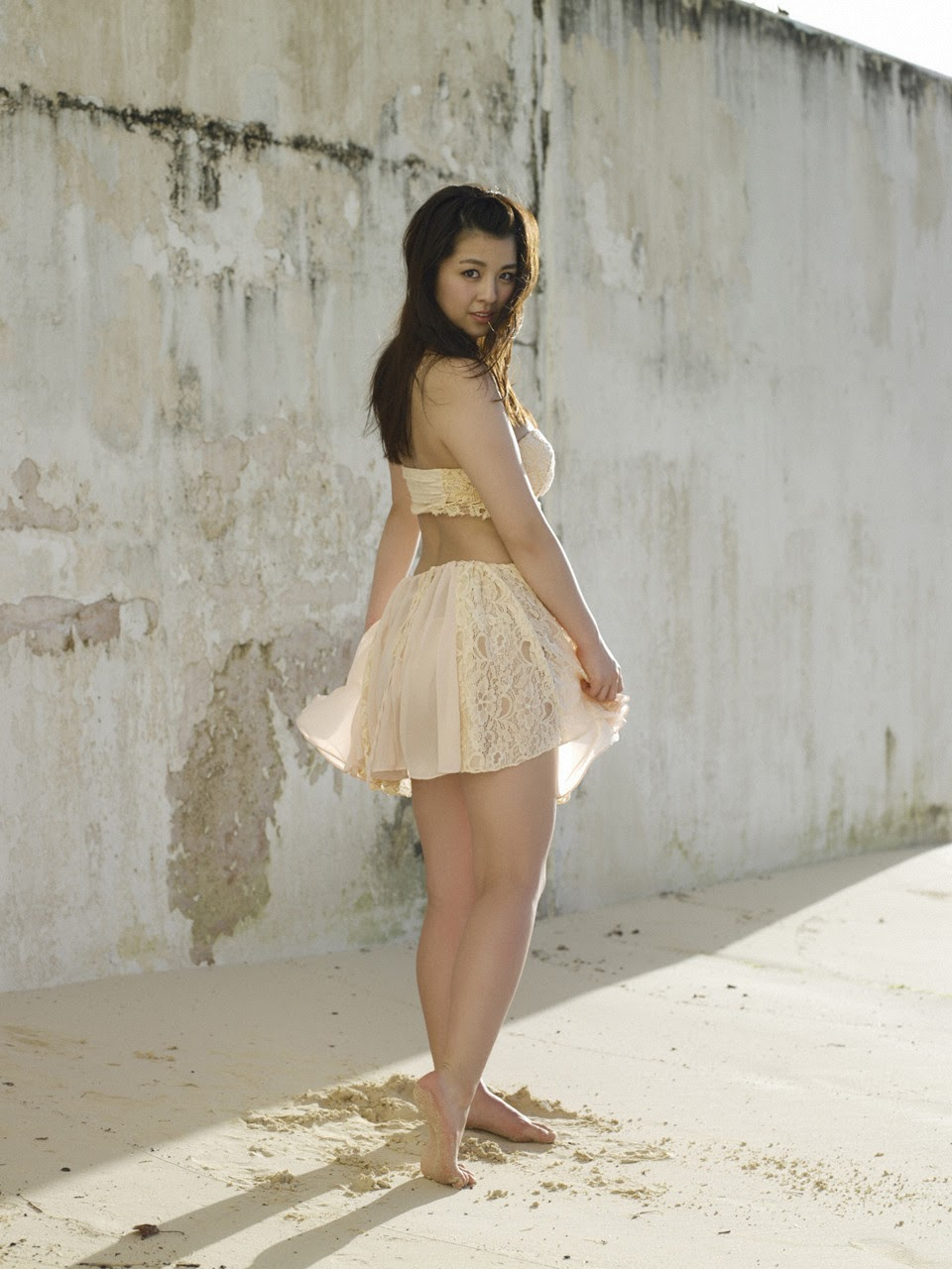 Bikini on a white sandy beach058