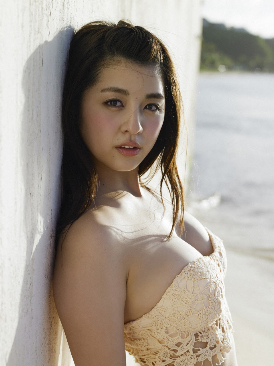 Bikini on a white sandy beach060