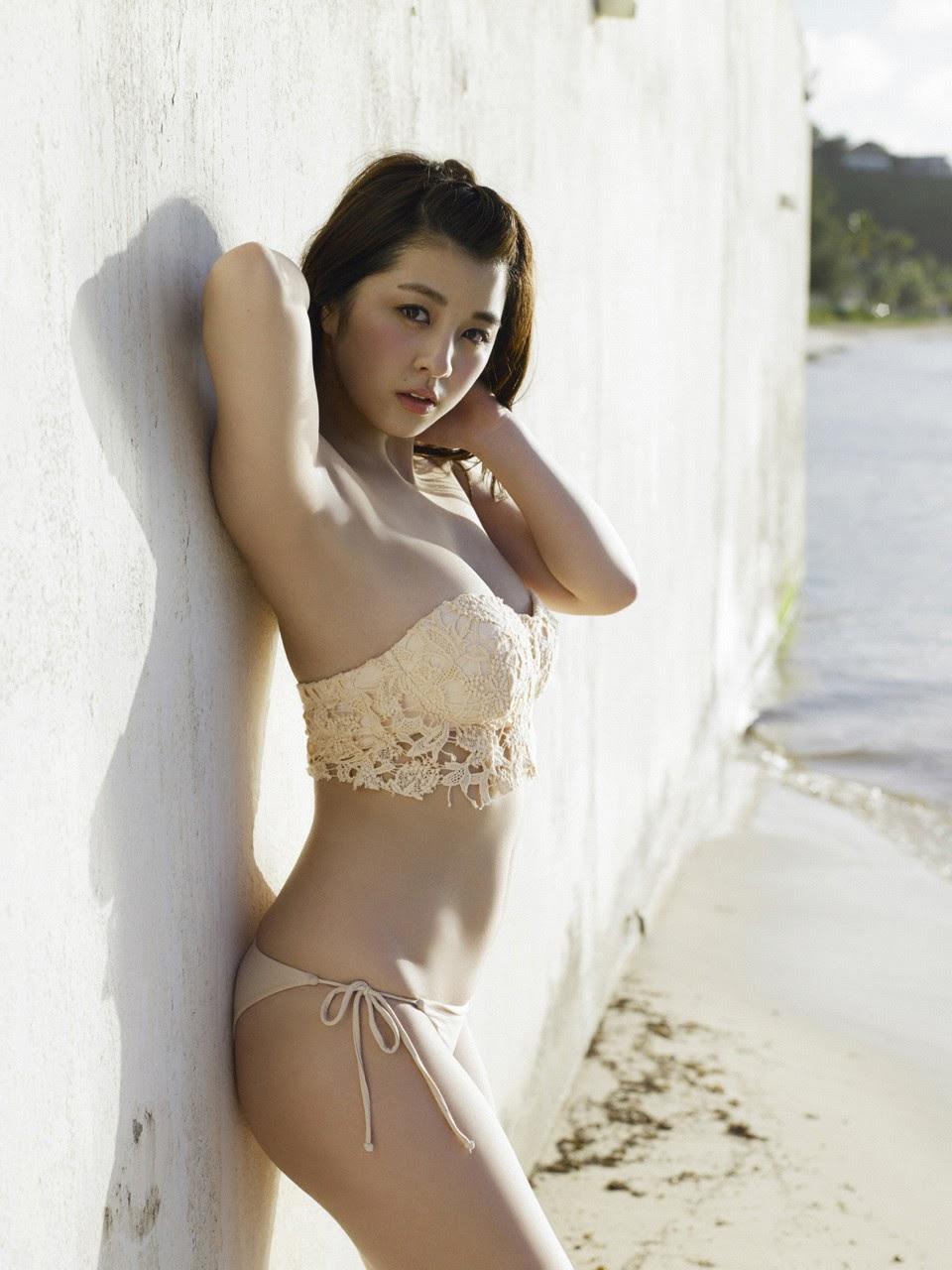 Bikini on a white sandy beach061