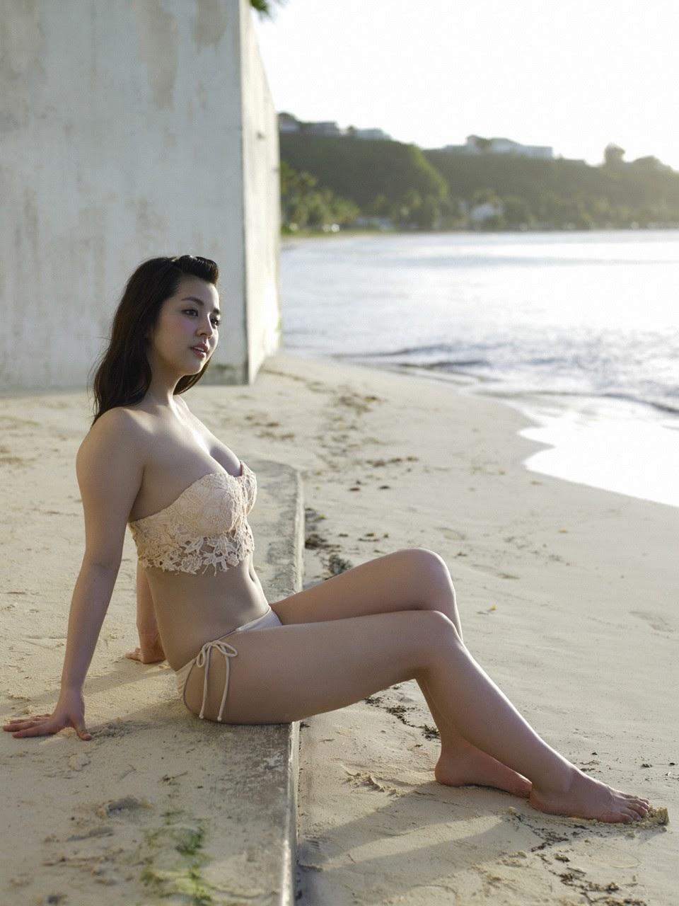 Bikini on a white sandy beach063