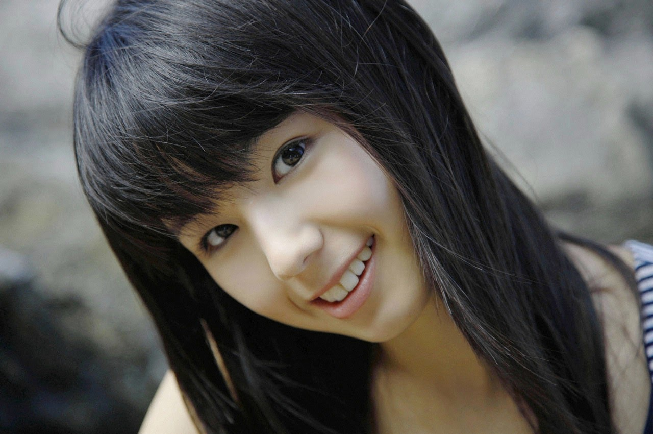 The ultimate beautiful girls angel smile explodes in Okinawa for the first time experience Rina Koike115