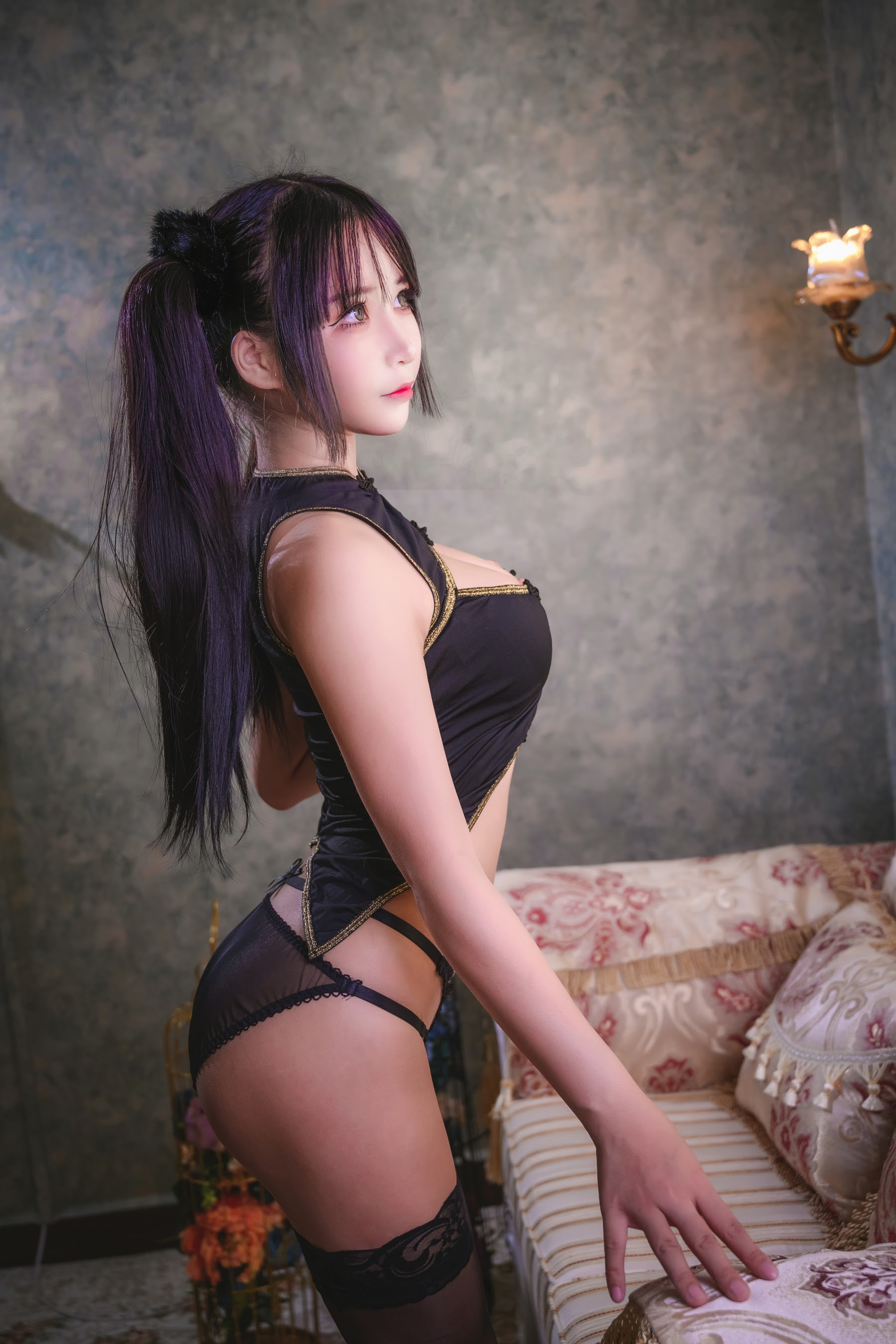Sexy Chinese beauty with twin tails012
