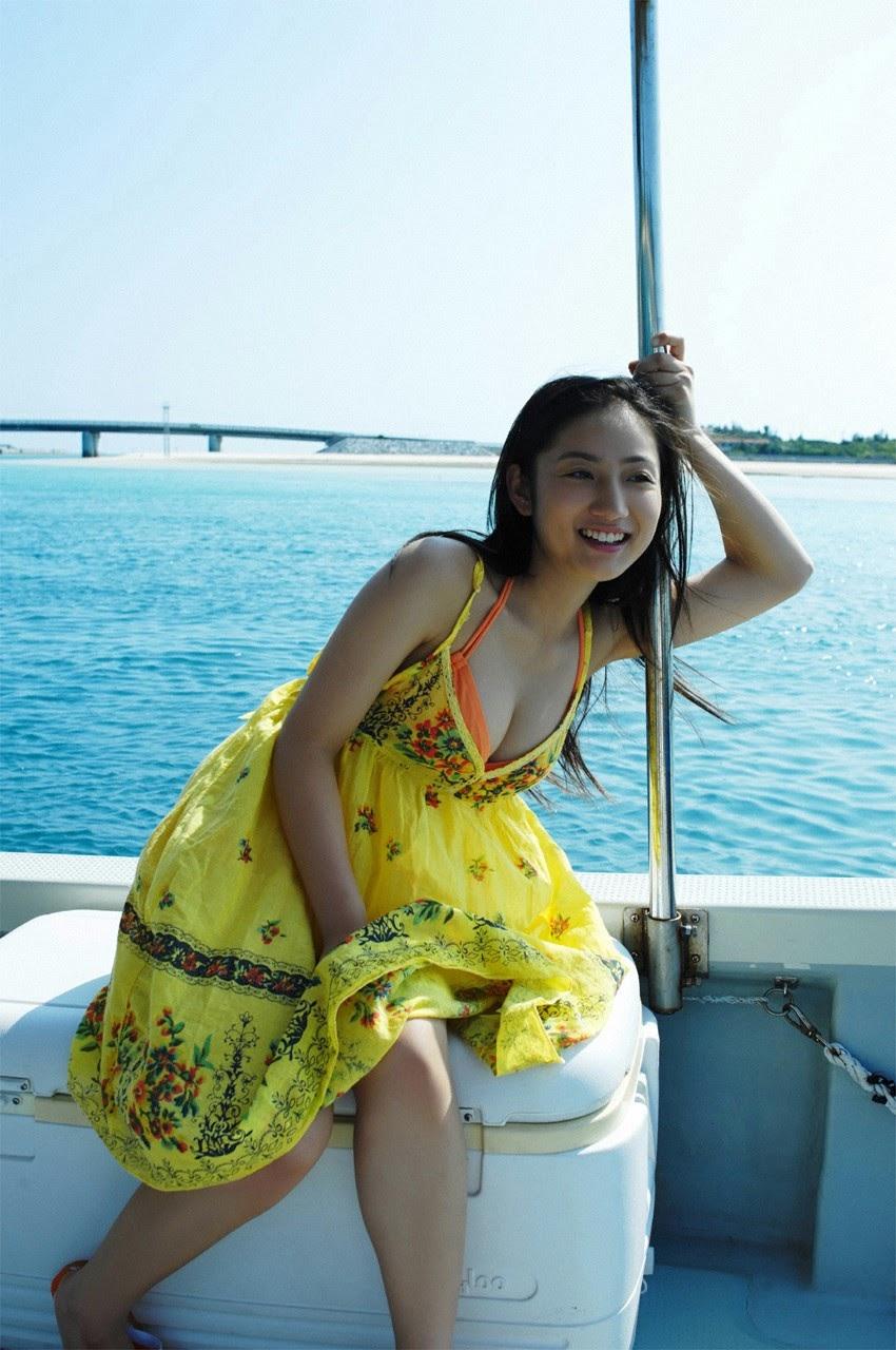 And on Kumejima the first experienceher late summer vacation begins! Saaya008