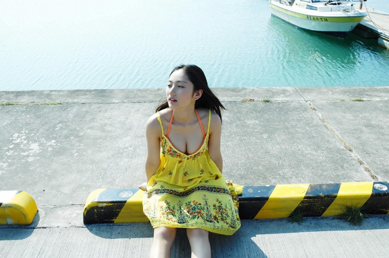 And on Kumejima the first experienceher late summer vacation begins! Saaya018