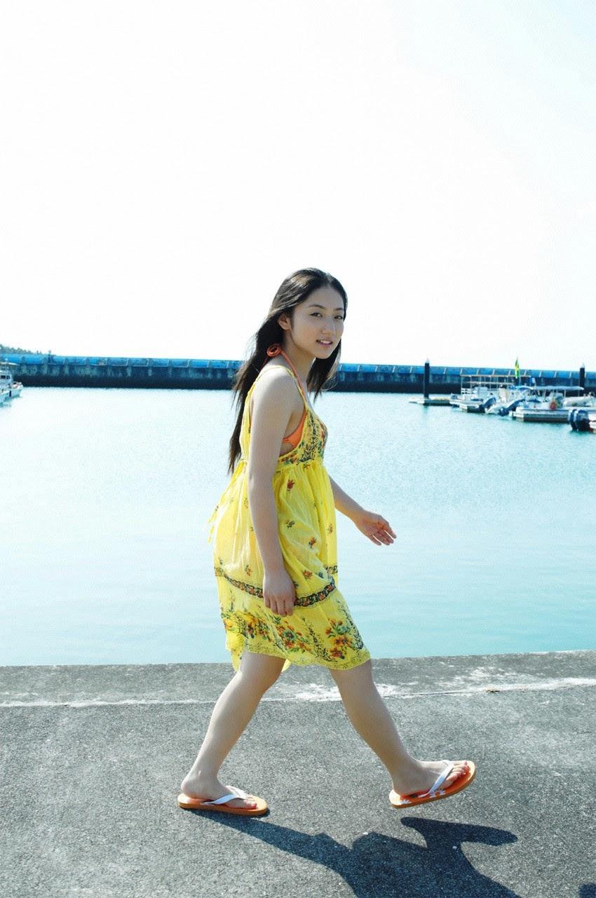 And on Kumejima the first experienceher late summer vacation begins! Saaya019