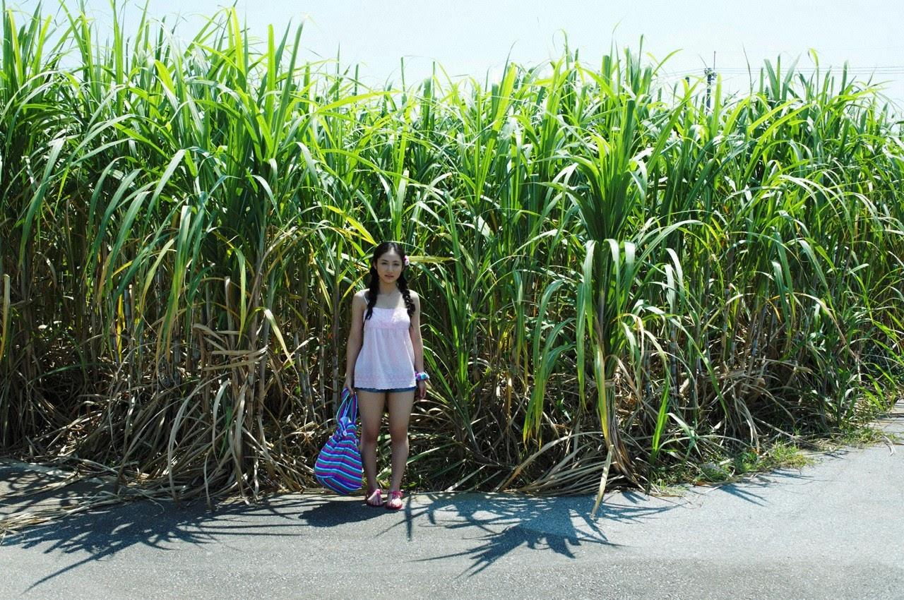 And on Kumejima the first experienceher late summer vacation begins! Saaya118