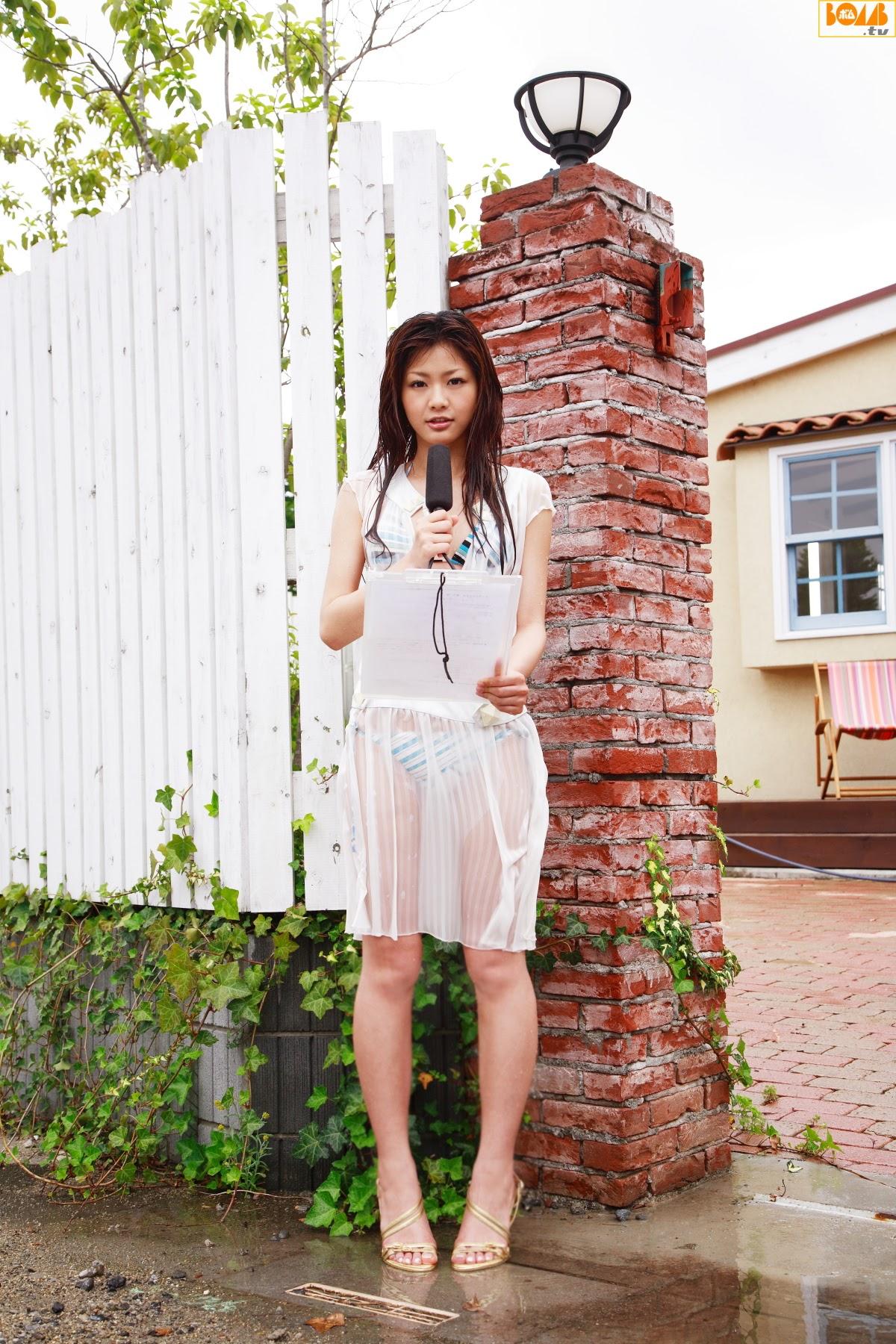 New era gravure harbor contact wet transparent sheer weather sister Rika Sato013