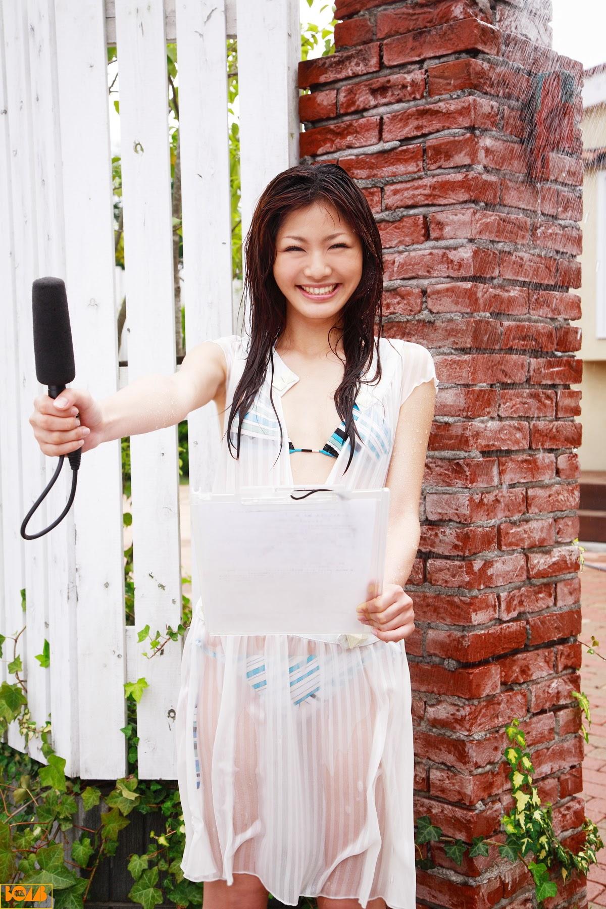 New era gravure harbor contact wet transparent sheer weather sister Rika Sato014
