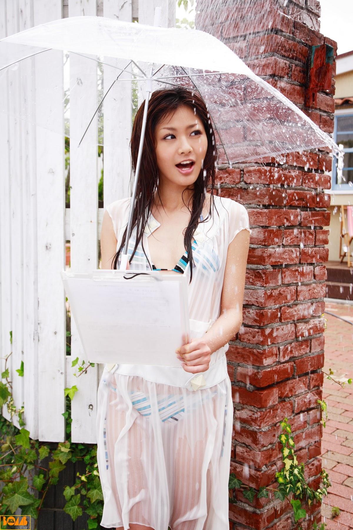 New era gravure harbor contact wet transparent sheer weather sister Rika Sato015