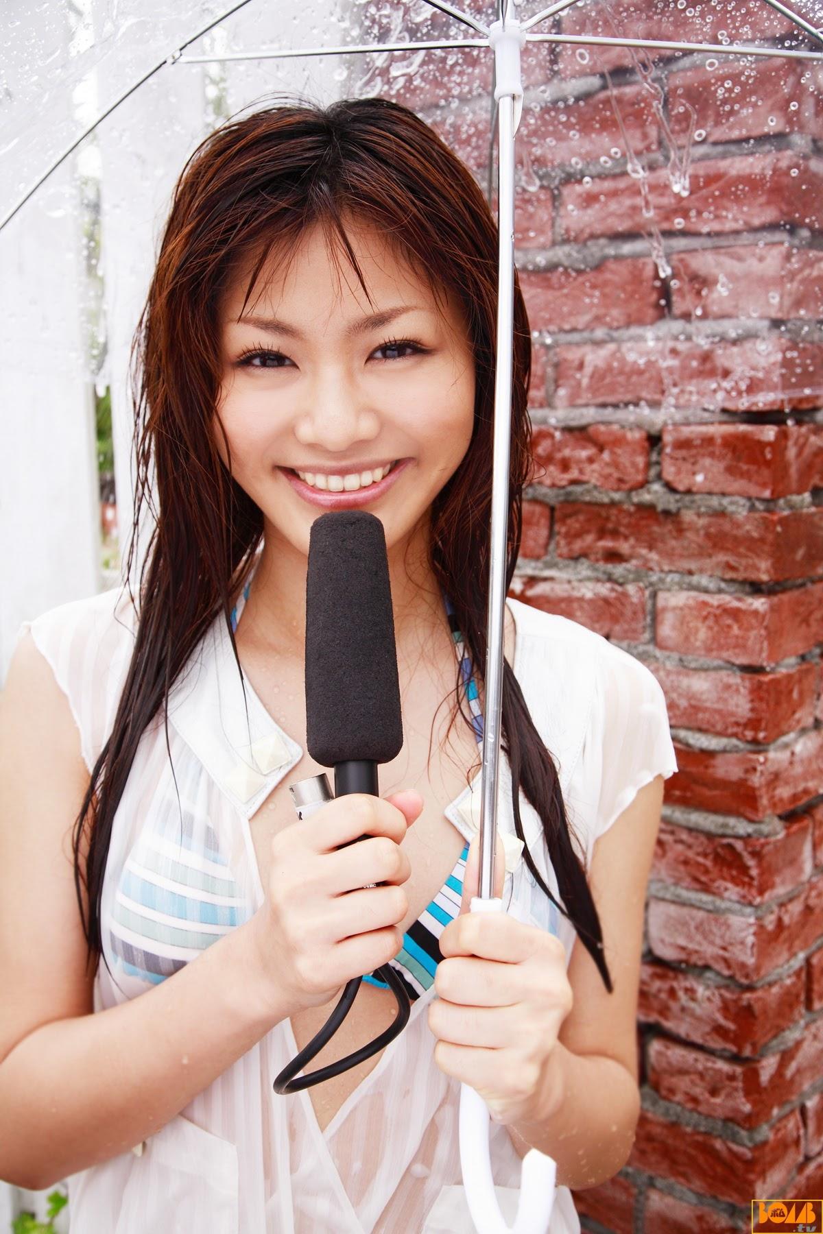 New era gravure harbor contact wet transparent sheer weather sister Rika Sato019