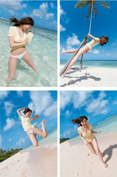 Moe Toyoda Swimsuit gravure009