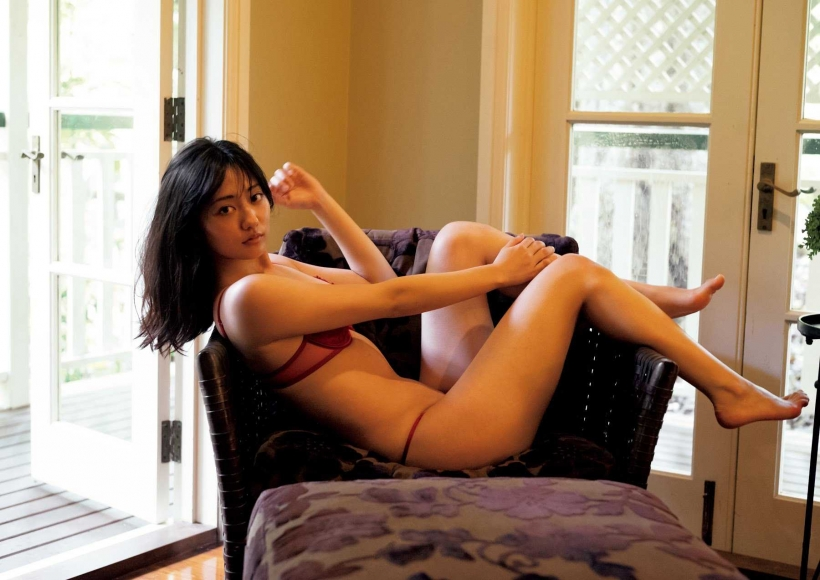 From Sentai Heroine to Authentic Actress Beautiful Body Kazusa Okuyama059
